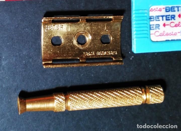 Antigüedades: BETER HOLLyWOOD, estuche, NUEVA TRASTIENDA, Española, maquinilla de afeitar, cuchilla, safety razor - Foto 3 - 152280646