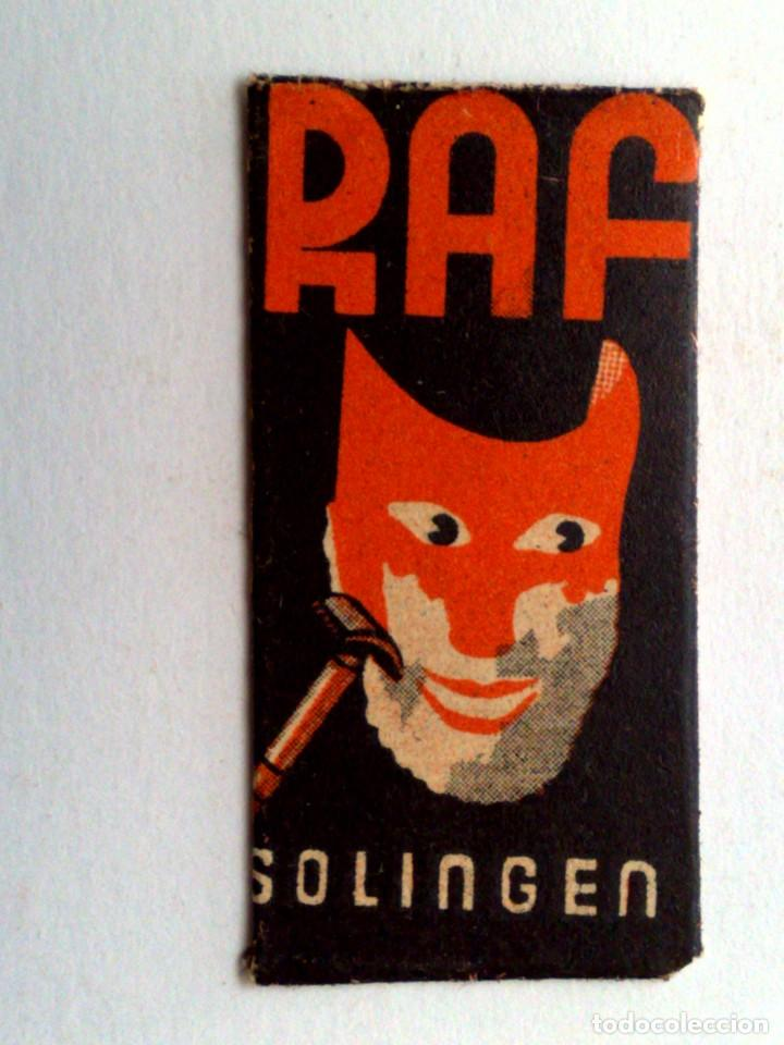 HOJA DE AFEITAR ANTIGUA,RAF SPEZIAL-SOLINGEN (Antigüedades - Técnicas - Barbería - Hojas de Afeitar Antiguas)