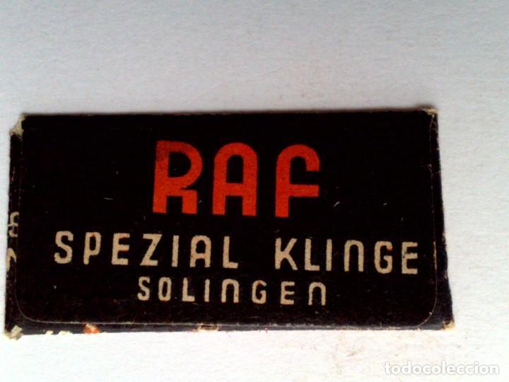Antigüedades: HOJA DE AFEITAR ANTIGUA,RAF SPEZIAL-SOLINGEN - Foto 3 - 152332386