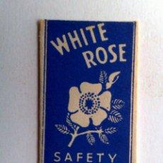 Antigüedades: HOJA DE AFEITAR ANTIGUA,WHITE ROSE. Lote 152334466