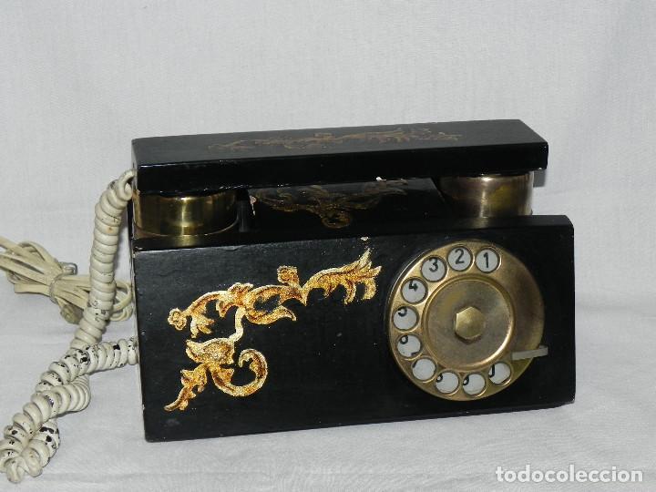 ** ANTIGUO TELÉFONO DE SOBREMESA DE MADERA ** (Antigüedades - Técnicas - Teléfonos Antiguos)