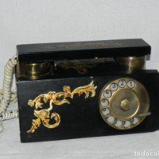 Teléfonos: ** ANTIGUO TELÉFONO DE SOBREMESA DE MADERA **. Lote 152342470