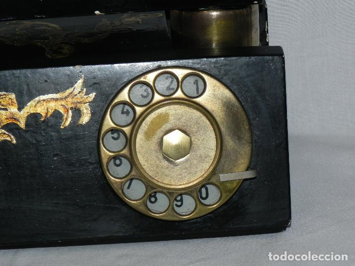 Teléfonos: ** ANTIGUO TELÉFONO DE SOBREMESA DE MADERA ** - Foto 2 - 152342470