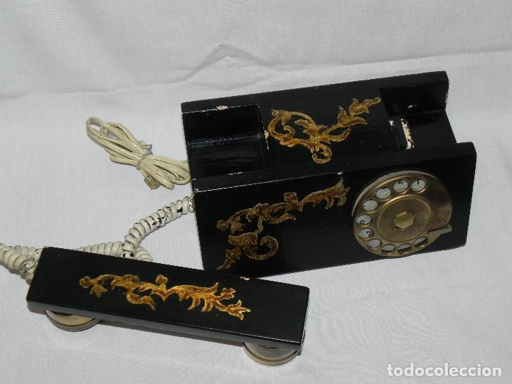 Teléfonos: ** ANTIGUO TELÉFONO DE SOBREMESA DE MADERA ** - Foto 4 - 152342470