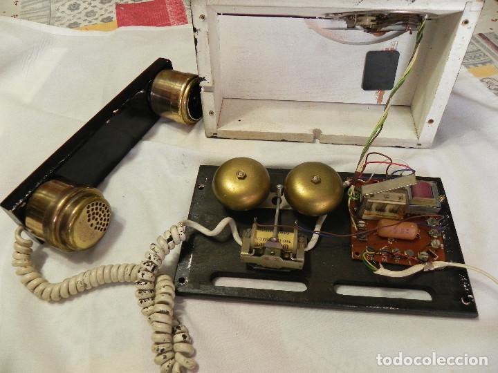 Teléfonos: ** ANTIGUO TELÉFONO DE SOBREMESA DE MADERA ** - Foto 9 - 152342470