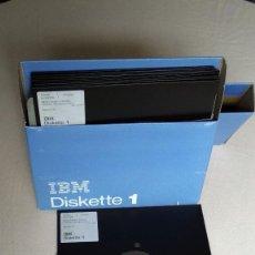 Antigüedades: CAJA 10 DISQUETES / DISKETTES DE 8 PULGADAS IBM -DISKETTE 1. FABRICACIÓN AÑOS 1973 A 1977.. Lote 155220653
