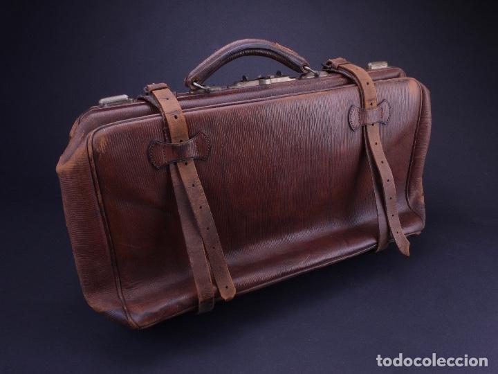 Antigüedades: BOLSO EQUIPAJE DE AFEITADO Y ASEO - Foto 4 - 152468730