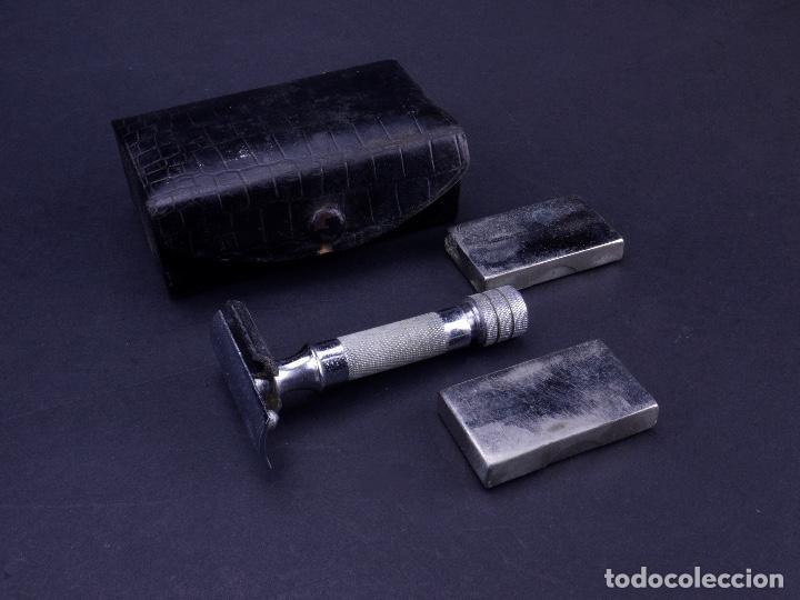 Antigüedades: BOLSO EQUIPAJE DE AFEITADO Y ASEO - Foto 16 - 152468730