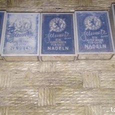 Antigüedades: 5 PAQUETES DE AGUJAS SCHMETZ-100 AGUJAS-SIN ESTRENAR. Lote 152490310