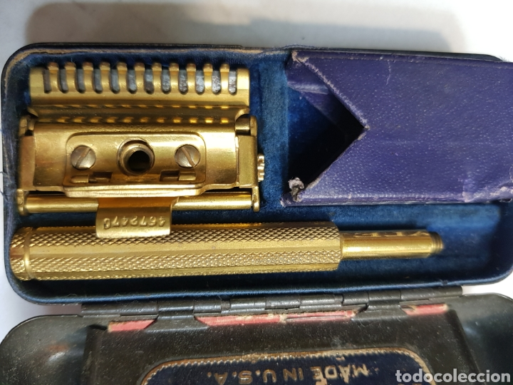 Antigüedades: Máquina antigua afeitar Valet AutostropRazor USA - Foto 4 - 152548678