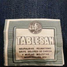 Antigüedades: TABLESAN PASTILLA MEDICAMENTOS C. 1. Lote 152650084