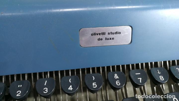 Antigüedades: Maquina de escribir de viaje Olivetti Super Luxe, de gran calidad, muy cuidada - Foto 22 - 152652082