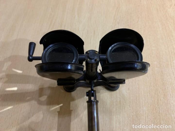Antigüedades: Antiguo binocular náutico con soporte de latón R & J Beck Londres 1914 - Foto 3 - 152654918