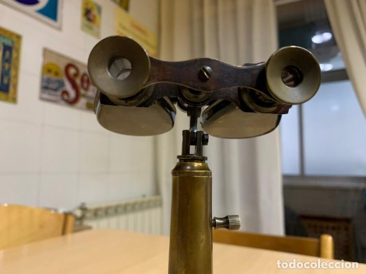 Antigüedades: Antiguo binocular náutico con soporte de latón R & J Beck Londres 1914 - Foto 6 - 152654918