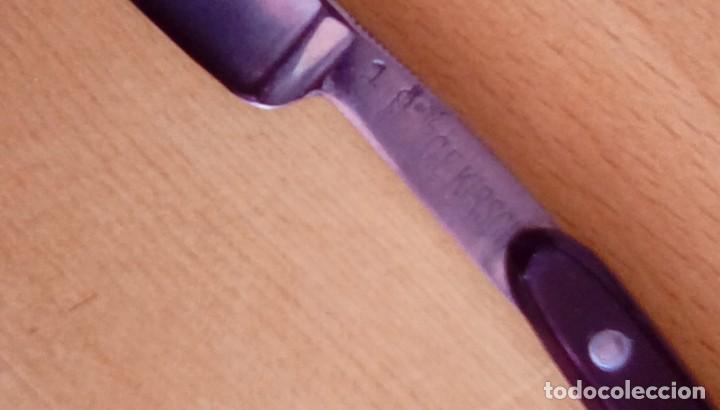 Antigüedades: navaja de afeitar de barbelé ce.kirschner, banderoles &group germany. Finest steel - Foto 3 - 152719922