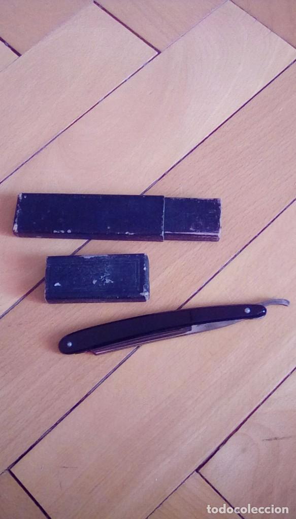 Antigüedades: navaja de afeitar de barbelé ce.kirschner, banderoles &group germany. Finest steel - Foto 6 - 152719922