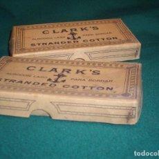 Antigüedades: ALGODON LASO PARA BORDAR - CLARK`S. Lote 152723942