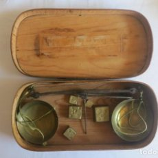 Antigüedades: CAJA DE PONDERALES FR. Lote 152748586