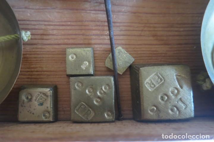 Antigüedades: Balanza para pesar monedas de oro ponderales FR - Foto 3 - 152748586