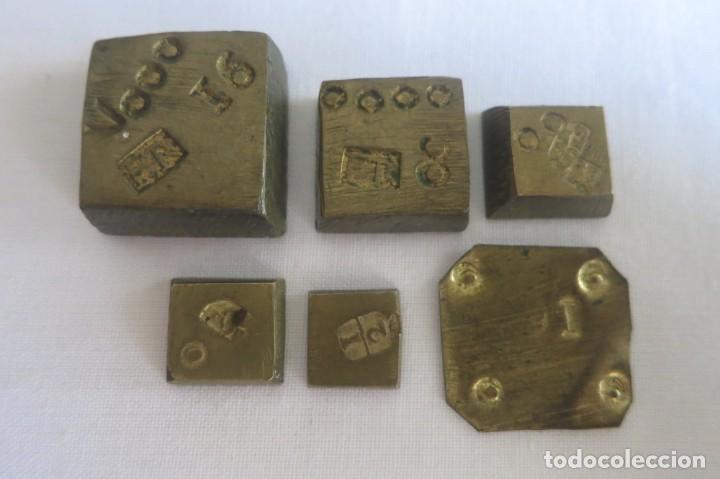 PONDERALES PARA EL PESO DEL ORO FR Y FARRIOL 1798 (Antigüedades - Técnicas - Medidas de Peso - Ponderales Antiguos)