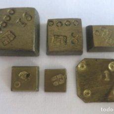 Antigüedades: PONDERALES PARA EL PESO DEL ORO FR Y FARRIOL 1798 . Lote 152749834