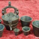 Antigüedades: PONDERAL DE VASOS ANIDADOS. COMPLETO. SIGLO XIX-XX. . Lote 152764850