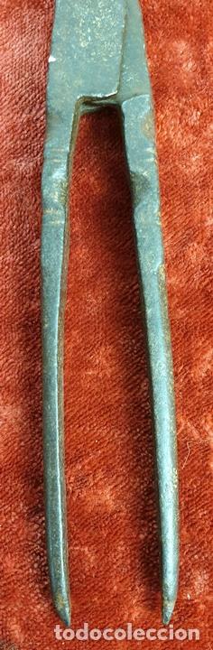 Antigüedades: COMPÁS PARA EBANISTERÍA. HIERRO FORJADO. SIGLO XIX-XX. - Foto 4 - 152771966