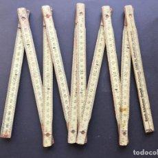 Antigüedades: ANTIGUO METRO DE MADERA DE ERICH AISFASSER GMBH, HOLZ-FACHMARKT, 6690 ST. WENDEL. Lote 152792790