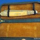 Antigüedades: (NA-190210)NAVAJA SOLINGEN 200 EMOS - HOJA GRABADA FILIGRANAS - INCRUSTACIONES EN LAS CACHAS - LUJO. Lote 152850610