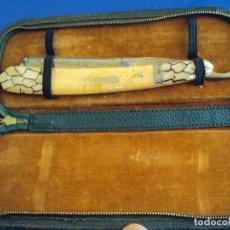 Antigüedades: (NA-190210)NAVAJA SOLINGEN 200 EMOS - HOJA GRABADA FILIGRANAS - INCRUSTACIONES EN LAS CACHAS - LUJO. Lote 177216390