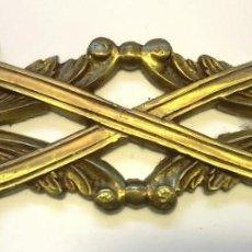 Antigüedades: ADORNO DE BRONCE MEDIANO MEDIDAS 16,5 CM X 4,5 CM. Lote 152951286