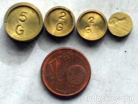 4 PONDERALES (Antigüedades - Técnicas - Medidas de Peso - Ponderales Antiguos)