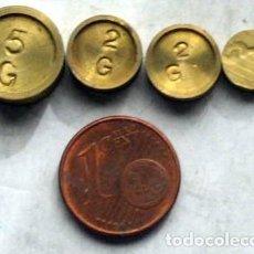 Antigüedades: 4 PONDERALES. Lote 153101962
