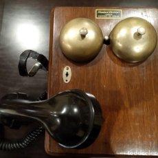 Teléfonos: ANTIGUO TELÉFONO STANDARD ELÉCTRICA -MADERA Y BAQUELITA- AÑOS 30/40, MAGNETO, CTNE. Lote 153123242