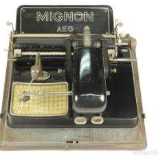 Antigüedades: MÁQUINA DE ESCRIBIR MIGNON Nº3 AÑO 1914 TYPEWRITER SCHREIBMASCHINE. Lote 153144238