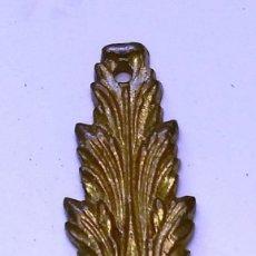 Antigüedades: TIRADOR BRONCE PEQUEÑA BOCALLAVE MEDIDAS 10,5 CM X 2,5 CM. Lote 181946490