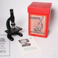 Antigüedades - Microscopio Kavex Junior - Caja e Instrucciones Originales - Años 60-70 - 153216906