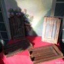 Antigüedades: ANTIGUOS MOLDES DE HIERRO PARA TEJA INGLESA. Lote 153277318