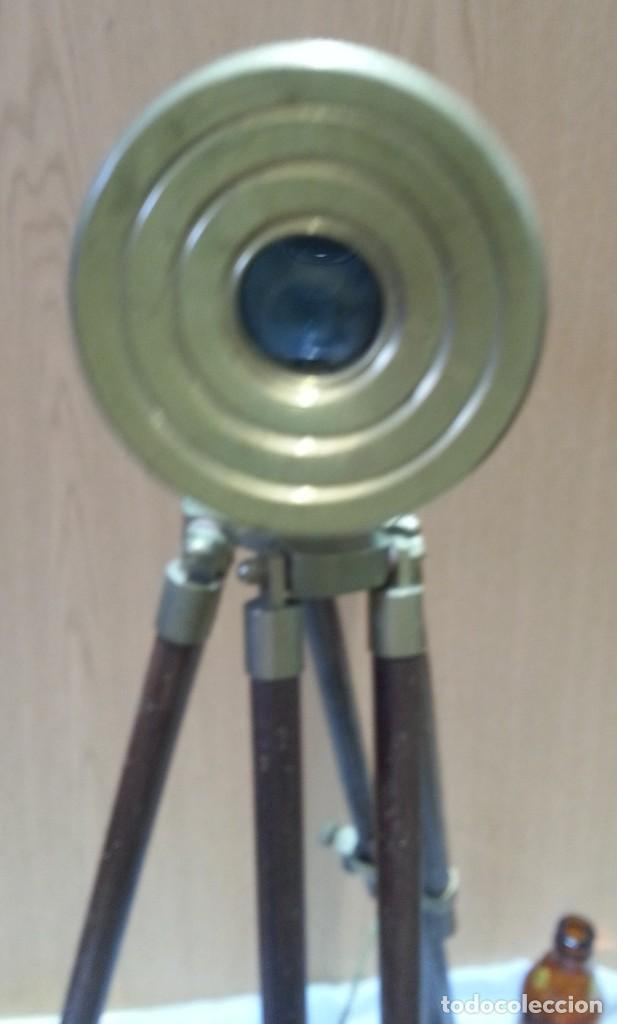 Antigüedades: Catalejo, telescopio naval. Vintage. Años 90. Sobre trípode. Precioso instrumento marítimo. - Foto 5 - 153360502