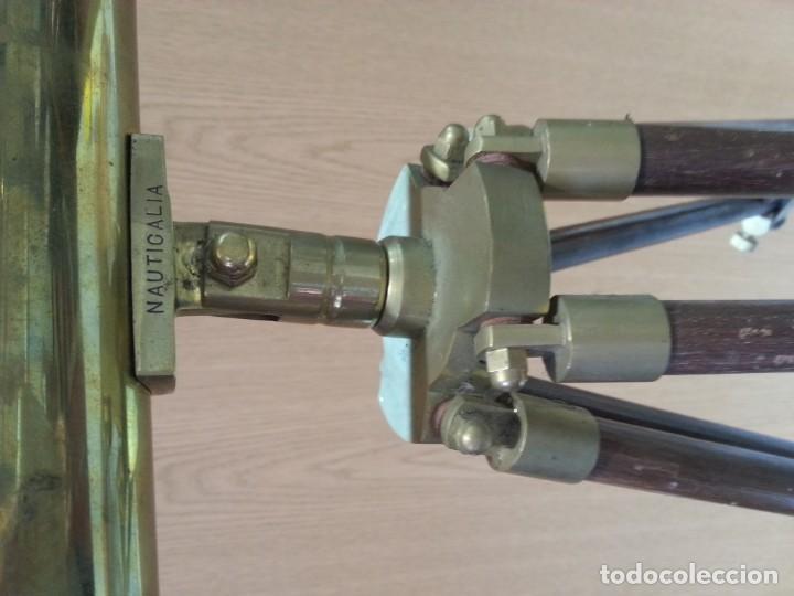 Antigüedades: Catalejo, telescopio naval. Vintage. Años 90. Sobre trípode. Precioso instrumento marítimo. - Foto 7 - 153360502