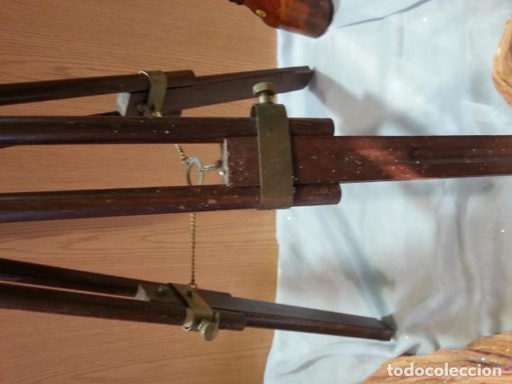 Antigüedades: Catalejo, telescopio naval. Vintage. Años 90. Sobre trípode. Precioso instrumento marítimo. - Foto 10 - 153360502