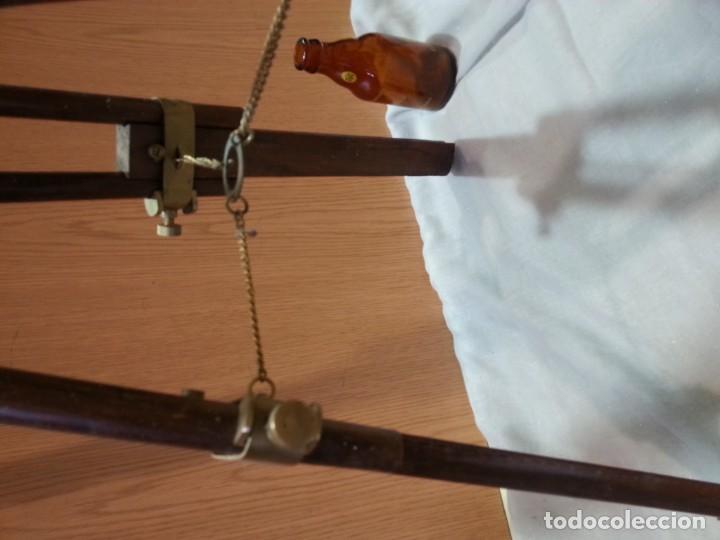 Antigüedades: Catalejo, telescopio naval. Vintage. Años 90. Sobre trípode. Precioso instrumento marítimo. - Foto 11 - 153360502