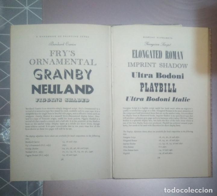 Antigüedades: Tipos Imprenta A HANDBOOK OF PRINTING TYPES COWELL - Foto 3 - 153443730