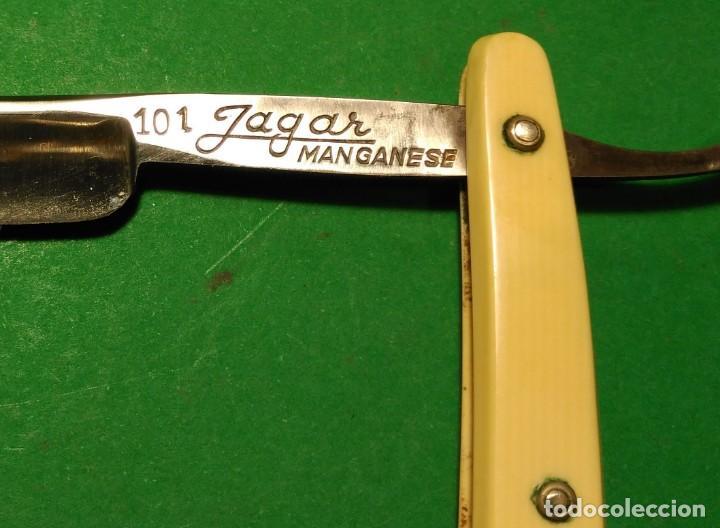 Antigüedades: 101 JAGAR MANGANESE SOLINGEN perfecta, navaja afeitar pequeña. straight razor, rasoio - Foto 2 - 153478114