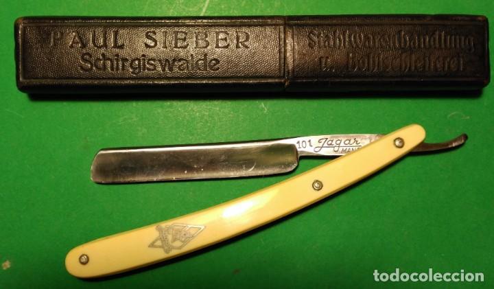 Antigüedades: 101 JAGAR MANGANESE SOLINGEN perfecta, navaja afeitar pequeña. straight razor, rasoio - Foto 4 - 153478114