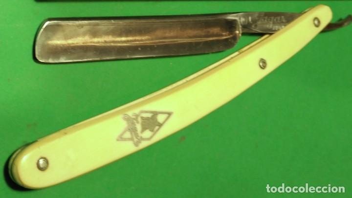 Antigüedades: 101 JAGAR MANGANESE SOLINGEN perfecta, navaja afeitar pequeña. straight razor, rasoio - Foto 5 - 153478114