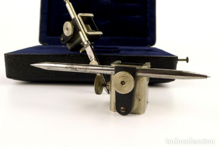 Antigüedades: Ahrend Klino nº40 - Estuche de compases instrumentos técnicos para arquitectura o dibujo técnico - Foto 4 - 153511646