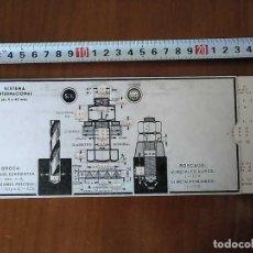 Oggetti Antichi: REGLA DE CALCULO BROCA ROSCADO SISTEMA INTERNACIONAL WHITWORTH CHART RECHENSCHIEBER MECANIZADO. Lote 153645422