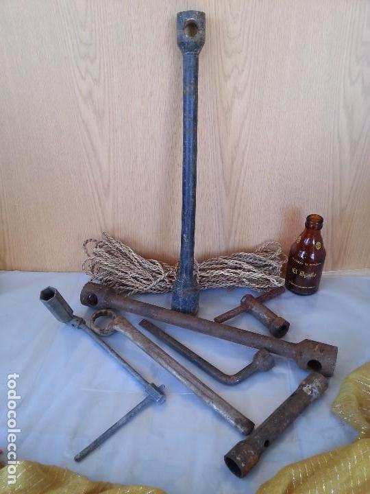 LLAVES DE MECÁNICO VARIADAS. 7 HERRAMIENTAS. (Antigüedades - Técnicas - Herramientas Profesionales - Mecánica)