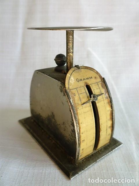 MUY ANTIGUO PESO DE CARTERO DE ACERO REGULABLE, GRADUADO DE 0 A 100 GR.- GRAMM. CIRCA 1930 (Antigüedades - Técnicas - Medidas de Peso - Básculas Antiguas)